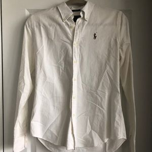White Ralph Lauren Slim Oxford